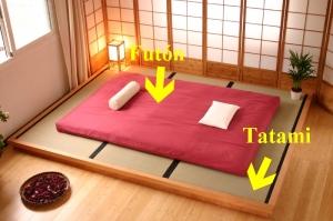 Dormitorio de una casa japonesa